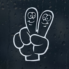 Peace Funny Hand Print Smiley Fingers Car Decal Vinyl Sticker