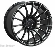 "XXR 550 18"" x 8.75 ET36 5x100 5x114.3 CHROME BLACK WIDE RIMS ALLOYS WHEELS Z2788"
