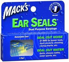 Mack's Ear Seals Dual Purpose Earplugs 1 Pair (Pack of 6)