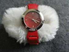 Watchme Quartz Ladies Watch with a Red Band