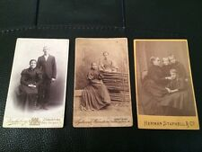 3 Cdv Photos Of Family And Pretty Girls Nice Shape For Their Age Take A Look