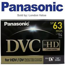 Panasonic Mini DV HDV Tape  AY-DVM63HDE For HD Video
