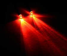 2x Red R/C Buggy Car Truck Small 3mm LED Light Kit Switch + PP3 Clip