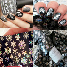 1pc Holographic Holo Nail Foils Snowflake Christmas UV Nail Art Transfer Sticker