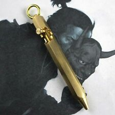 Outdoor EDC Brass Mini Gun Pen Tool Keychain Ball-point Pen Creative Gifts