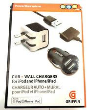 Griffin Power Duo Micro Car + Wall Chargers iPhod iPhone iPad