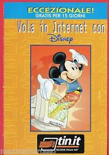 Pubblicità Advertising TIN.IT Telecom 1998 Vola in Internet con Disney Password
