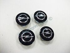 New Genuine Opel Corsa E 2015- Black Alloy Wheel Centre Caps X4 13395741