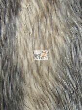 FAUX FAKE FUR STRIPED ANIMAL LONG PILE COAT COSTUMES FABRIC Palm Civet BY YARD