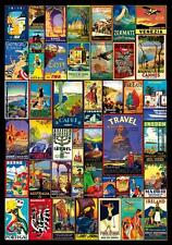 'WORLD TRAVEL POSTERS' (Vintage Posters) WOODEN JIGSAW PUZZLE by Wentworth *NEW*
