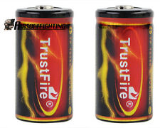 2X TrustFire 18350 3.7V 1200mAh Li-ion Rechargeable Battery Black