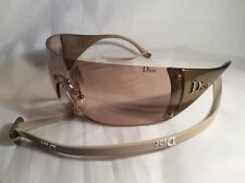 CHRISTIAN DIOR SKI 6 VA3 120 GOLD LIGTH MIRRORED XL CASE SUNGLASSES