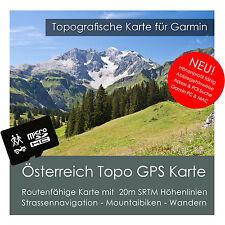 Österreich Topo Karte 20m Höhenlinien 4GB SD Garmin Edge 605 705 800 810 1000