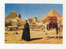 Giza The Sphinx & Pyramid of Cheops Egypt Postcard 606a