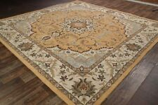 Classic Floral Beige Color 10x13 Kashan Persian Agra Oriental Area Rug Carpet