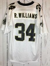NEW ORLEANS SAINTS RICKY WILLIAMS #34 White Football JERSEY ADULT Medium