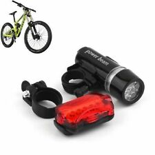 New Waterproof 5LED Lamp Bike Bicycle Front Head Light+Rear Safety Flashlight EA