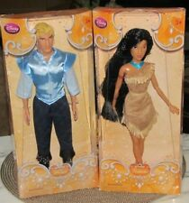 "Disney Store  Pocahontas & John Smith  Classic 12"" Doll  2 in set / lot    NRFB"
