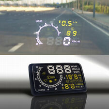 W02 5in Head Up Display HUD Car OBD2 Voltage Speed Warning Fuel Consumption F4