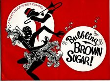 BUBBLING BROWN SUGAR Cast Signed Program by 14 Stars