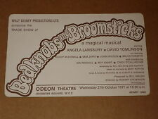 "Disney's ""Bedknobs And Broomsticks"" 1971 UK Trade Show Ticket (Angela Lansbury)"