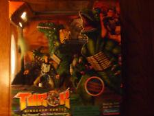 Playmates 1999 Turok Dinosaur Hunter Carl Fireseed w/ Tribal Spinosaurus, MIB