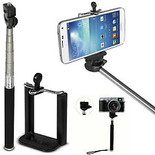 "Adjustable 35"" Selfie Stick Extendable Monopod For Camera Samsung iPhone US Ship"