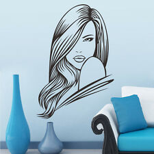 Beauté Salon De Coiffure Sexy Girl Sticker Autocollant Mural Art Vinyl Maison