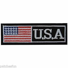 USA US U.S. American Flag ARMY Name Tag Biker Motorcycles Iron on Patch #1254