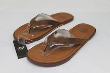 UGG Bennison II Leather Men's Flip Flops Sandals Thongs Luggage Brown Size 9 US