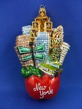 Big Apple Landscape New York Glass Christmas Tree Ornament Travel 011279