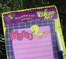 Locker Art TWEETY BIRD Dry Erase MAGNETIC Memo Board with Marker NEW SEALED Pkg!