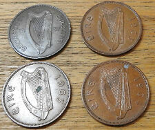 1937 1963 X 2 1964 IRELAND ONE PENNY VERY NICE COLLECTABLE GRADE EIRE 1d
