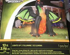 NEW 13' ANIMATED Lighted Dragon w/MOVING Wings Halloween Airblown Inflatable-WOW
