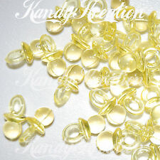 25 Yellow Pacifier Charms for Kandi Rave Kid Rave Pony Bird Toy Baby Shower Game