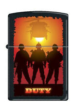 Zippo 0212 military duty helicopter black matte RARE & DISCONTINUED Lighter