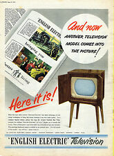 Vintage Household Advertising poster  A4 RE PRINT English Electric TV