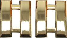"Captain Bars Gold Plated Large - Pair - 1"" X 1"" Double Pin Clutch Backing - NEW"