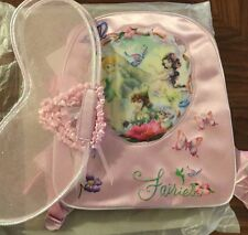 Disney Deluxe Tinker Bell Fairies Backpack With Wearable Wings!