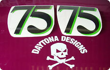 NUMBER BOARD RACE NUMBERS CUSTOM DECALS STICKERS GREAT FOR SEAT UNITS