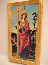 Saint Helen Helena Elena Eleni Christian Roman Catholic Icon  Wood Plaque