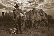 Barry Hart Compadres Western Horse Dog Cowboy Photograph Print Poster 11x14