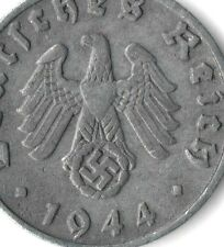 Rare Old WWII German NAZI War Swastika Coin WW2 Germany Military Army Civil Cent