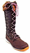 Salomon Womens Brown Hime High Snow Boot Size 8