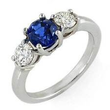 1.2ct Ceylon blue Sapphire and diamond ring 14k gold