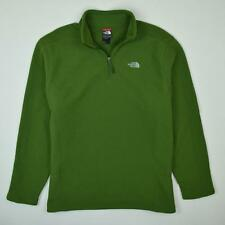 The North Face Fleece Jacket Waffle 1/4 Zip Green Men's Size 2XL