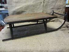 Vintage 1900s Wood and Metal Sled Riveted Not Welded   Antique Old RARE 9042