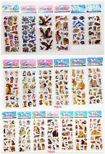 Bubble stickers for children Stereoscopic CARTOON /animals mixed 3D/lot gift