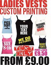 Chaleco de la impresión de texto Personalizado Para mujeres Prendas para el torso gallina Gimnasio chalecos de vacaciones Personalizado Impreso