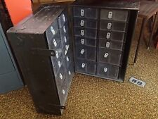 Vtg Military Metal Medic Storage Drawer Case Army Field Equip Trunk Locker Chest